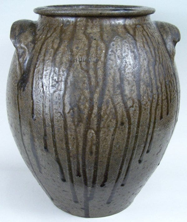 Lot 44: Large North Carolina jar, stamped N.H. Dixon
