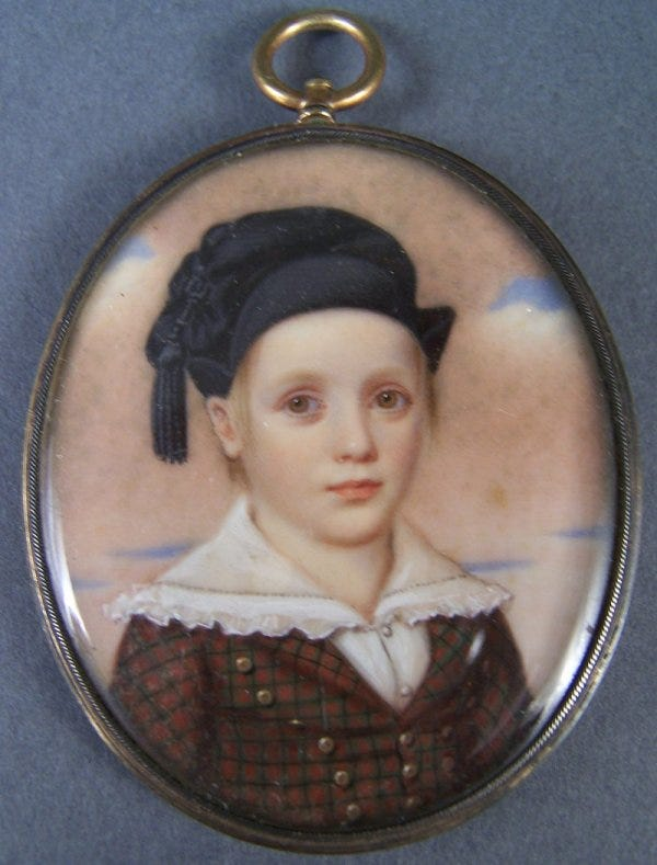 Lot 182: Miniature on ivory attributed to John Wood Dodge