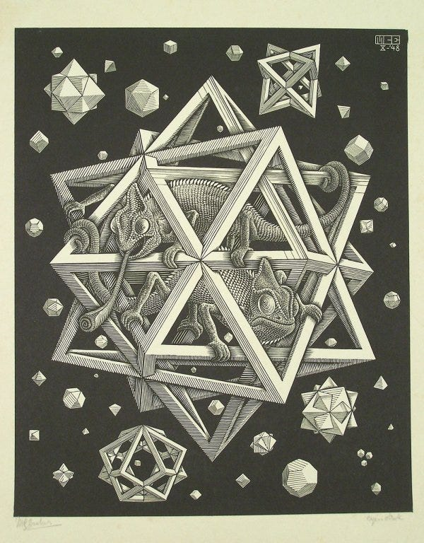 "Lot 195: Exceptional M. C. Escher (1898-1972) ""Stars"", signed engraving, 1948"