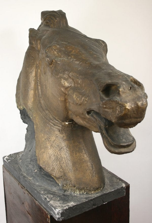Lot 159: Monumental gilt plaster casting of horse of Helios for Nashville Parthenon