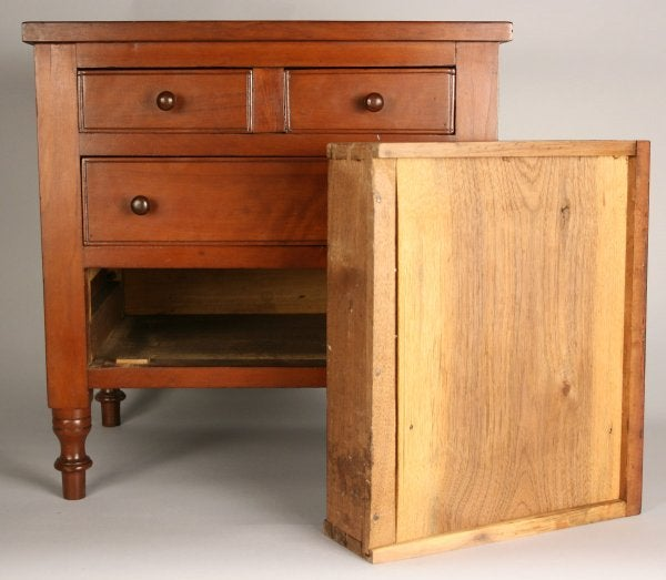 Lot 168: East Tennessee miniature cherry chest, Washington, Co., TN