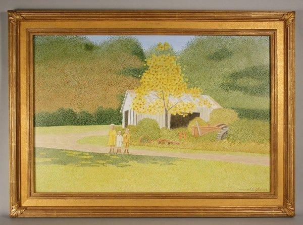 Carroll Cloar (1913-1994) acrylic on board painting