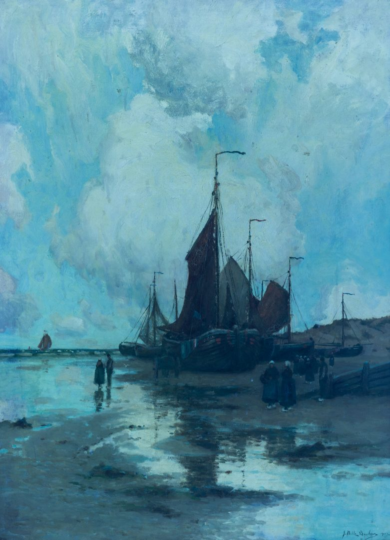 Lot 97: John Noble Barlow Coastal Landscape Oil on Canvas