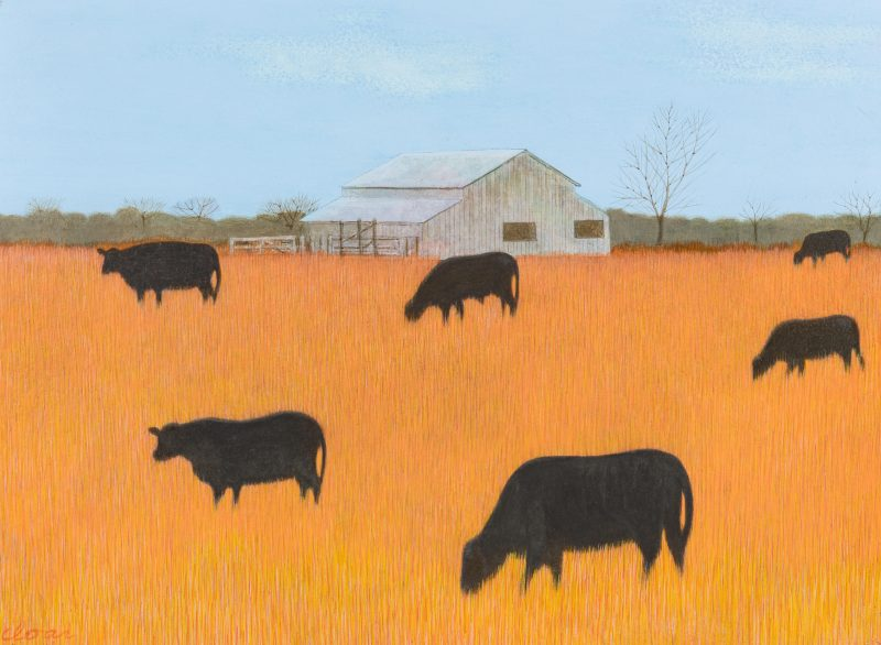 Lot 116: Carroll Cloar Painting, Black Angus