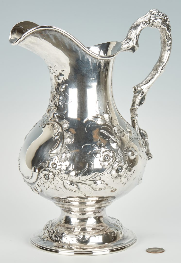 Kentucky coin silver footed pitcher