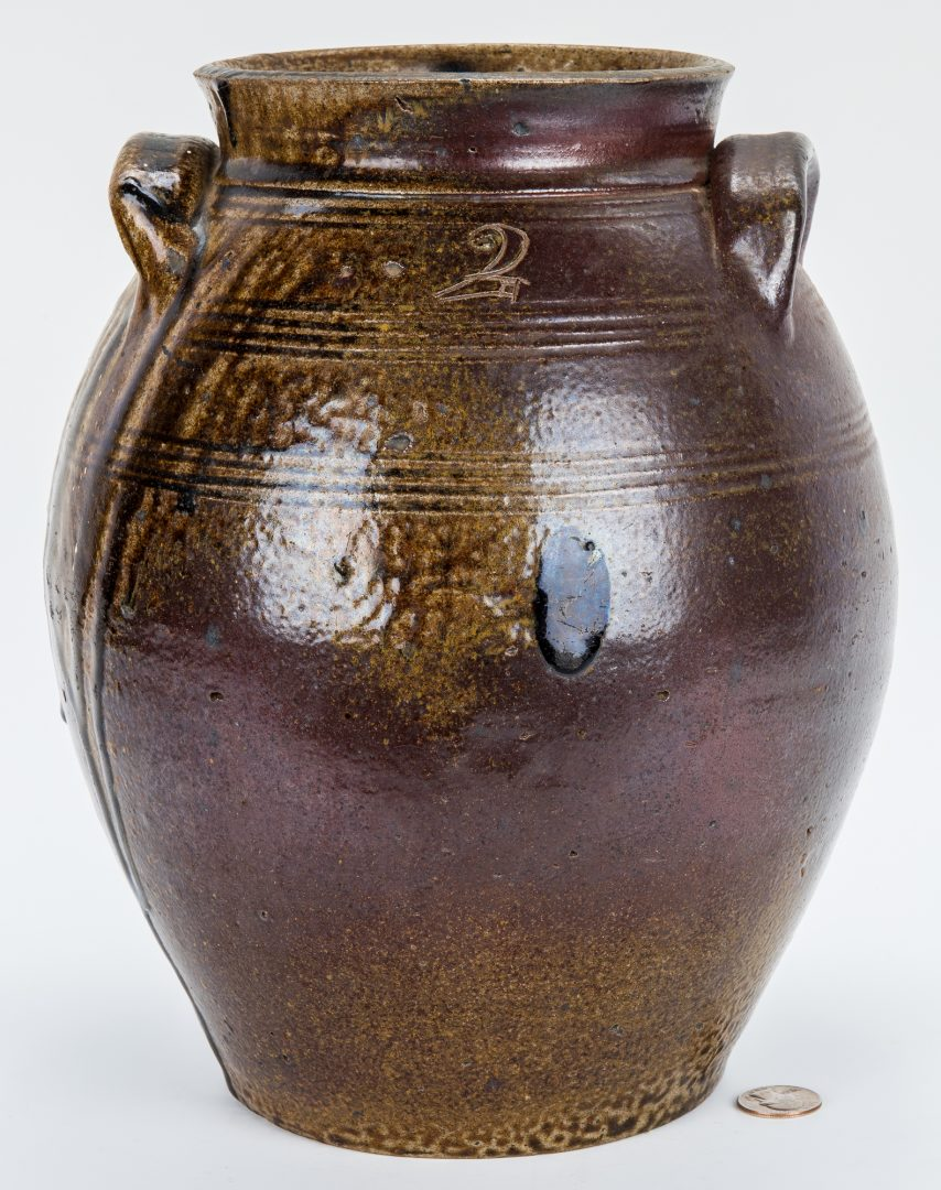 North Carolina (Randolph County) salt-glazed stoneware jar, attributed to the Webster Pottery