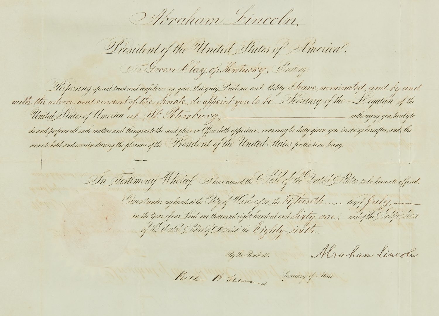 President Lincoln signed