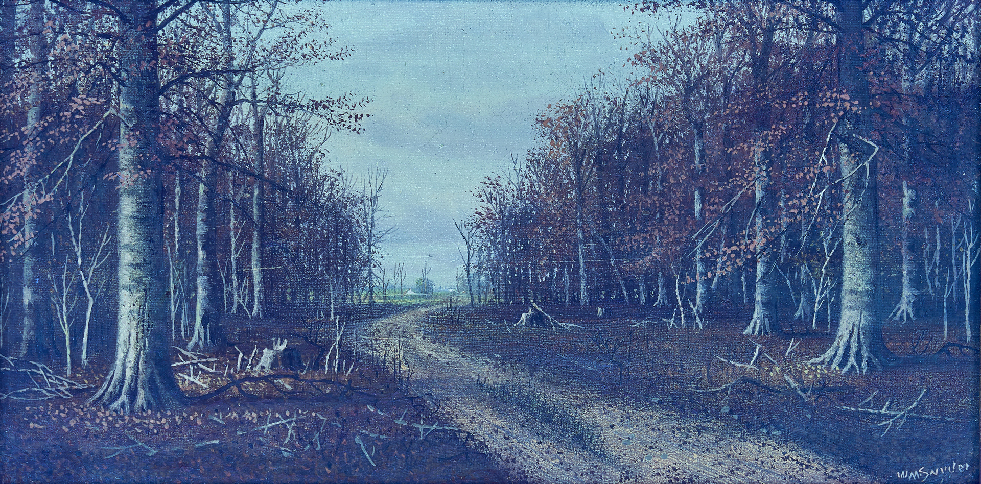 Lot 141: William M. Snyder O/C, Autumn Landscape