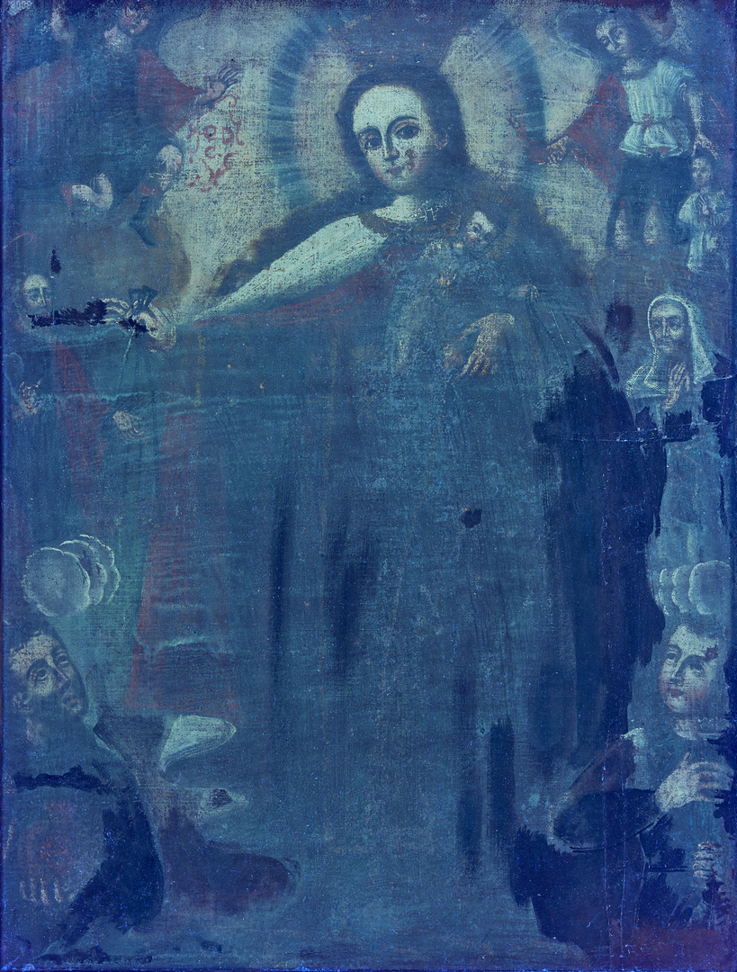 Lot 83: Cuzco School Painting, Madonna and Child
