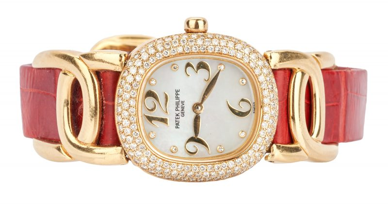 Lot 26: Ladies 18K Patek Philippe Watch, Ellipse d'Or