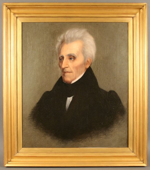 Lot 157: Andrew Jackson Portrait by William Stewart Watson