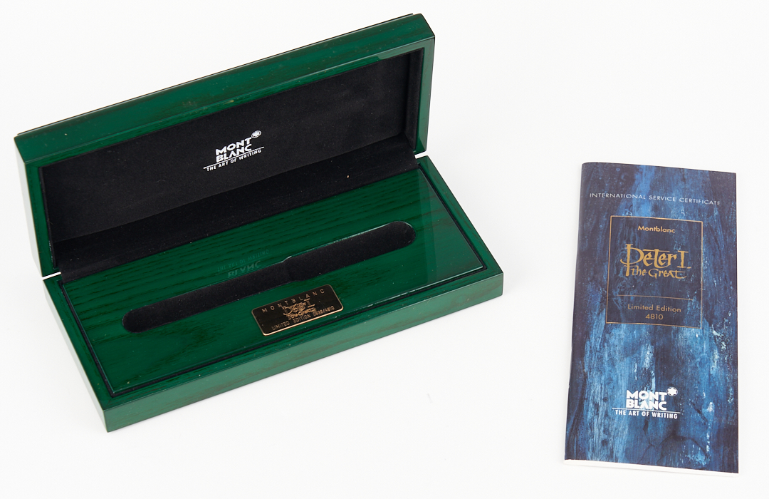 Lot 47: Montblanc Peter the Great 4810 Fountain Pen