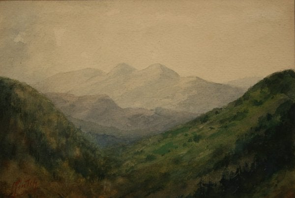 Lot 13: TN mountain watercolor painting by Charles Krutch