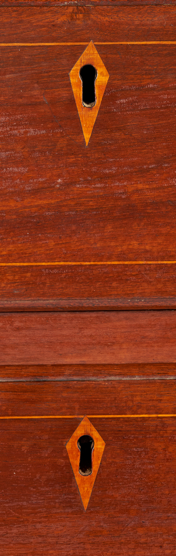 Lot 250: Southern Hepplewhite Inlaid Chest of Drawers
