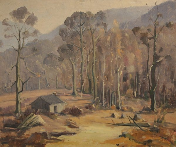 Lot 12: Tennessee landscape oil painting by Louis E. Jones