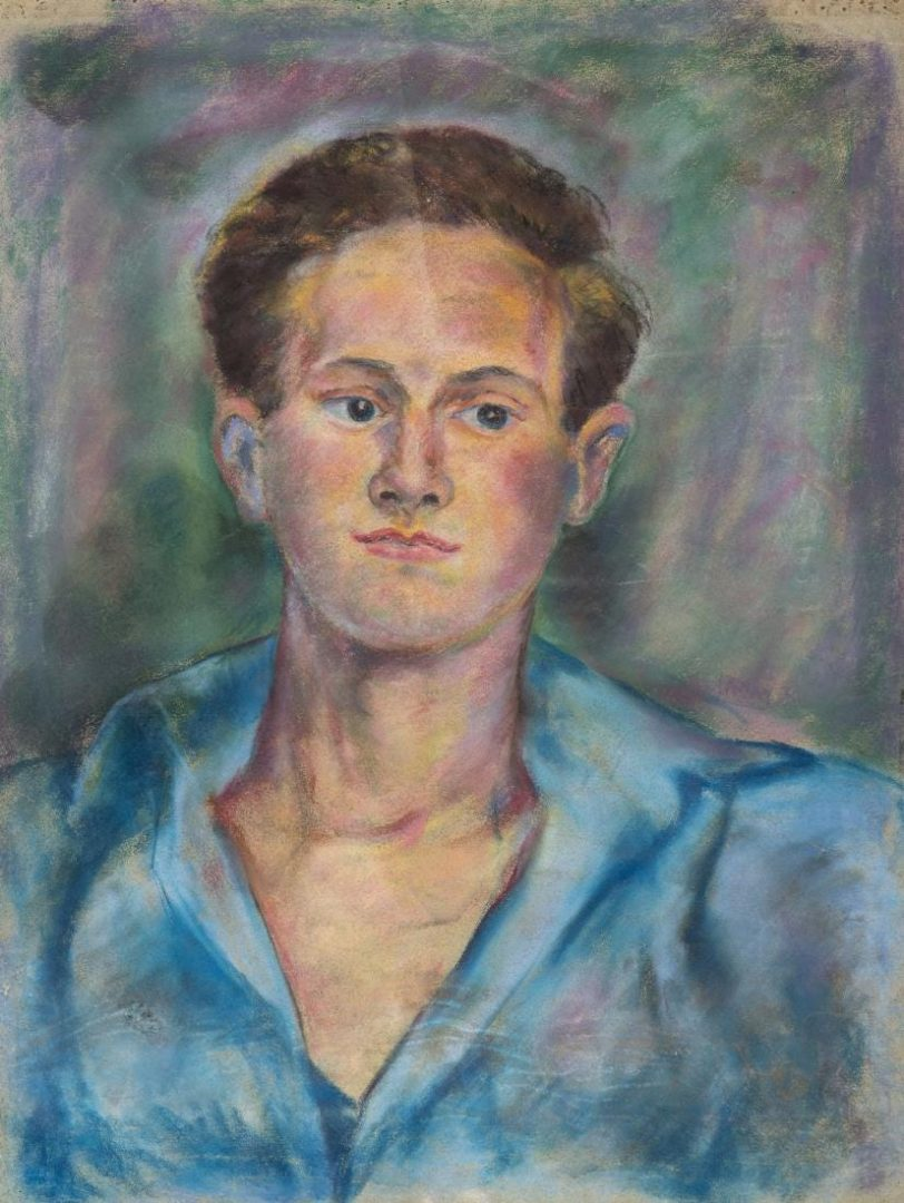 Lot 574: Beauford Delaney Portrait of a Young Man