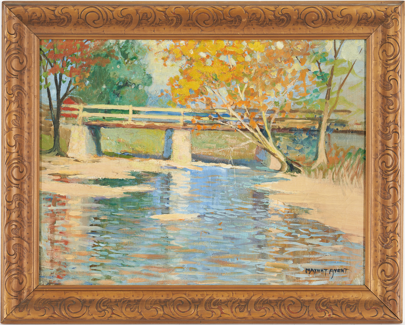 Lot 190: Mayna Treanor Avent O/C, Tennessee Landscape Painting