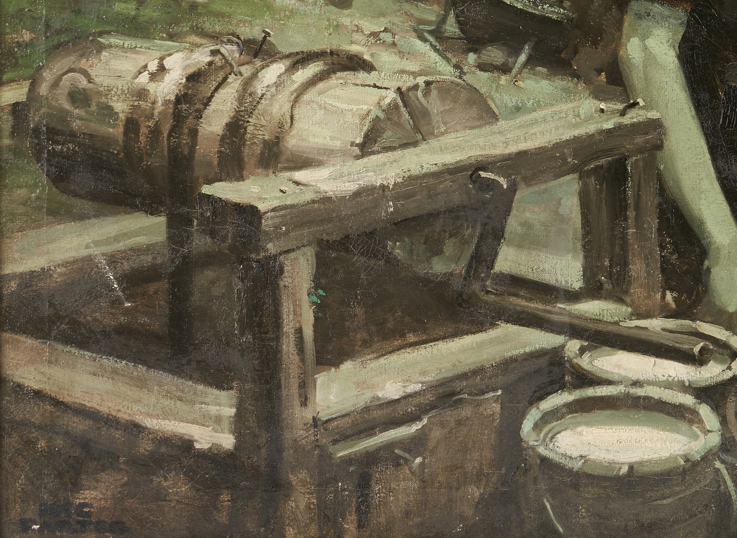 Lot 186: McCullough Partee O/C Painting, The Wishing Well