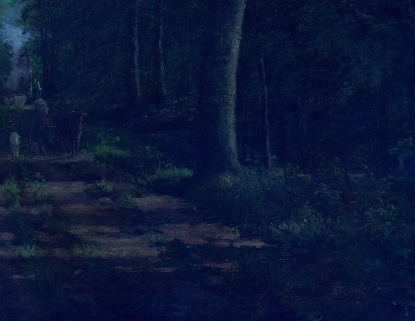 Lot 69: Large Carl Carlsen O/C Landscape Painting, Shepherd in a Forest