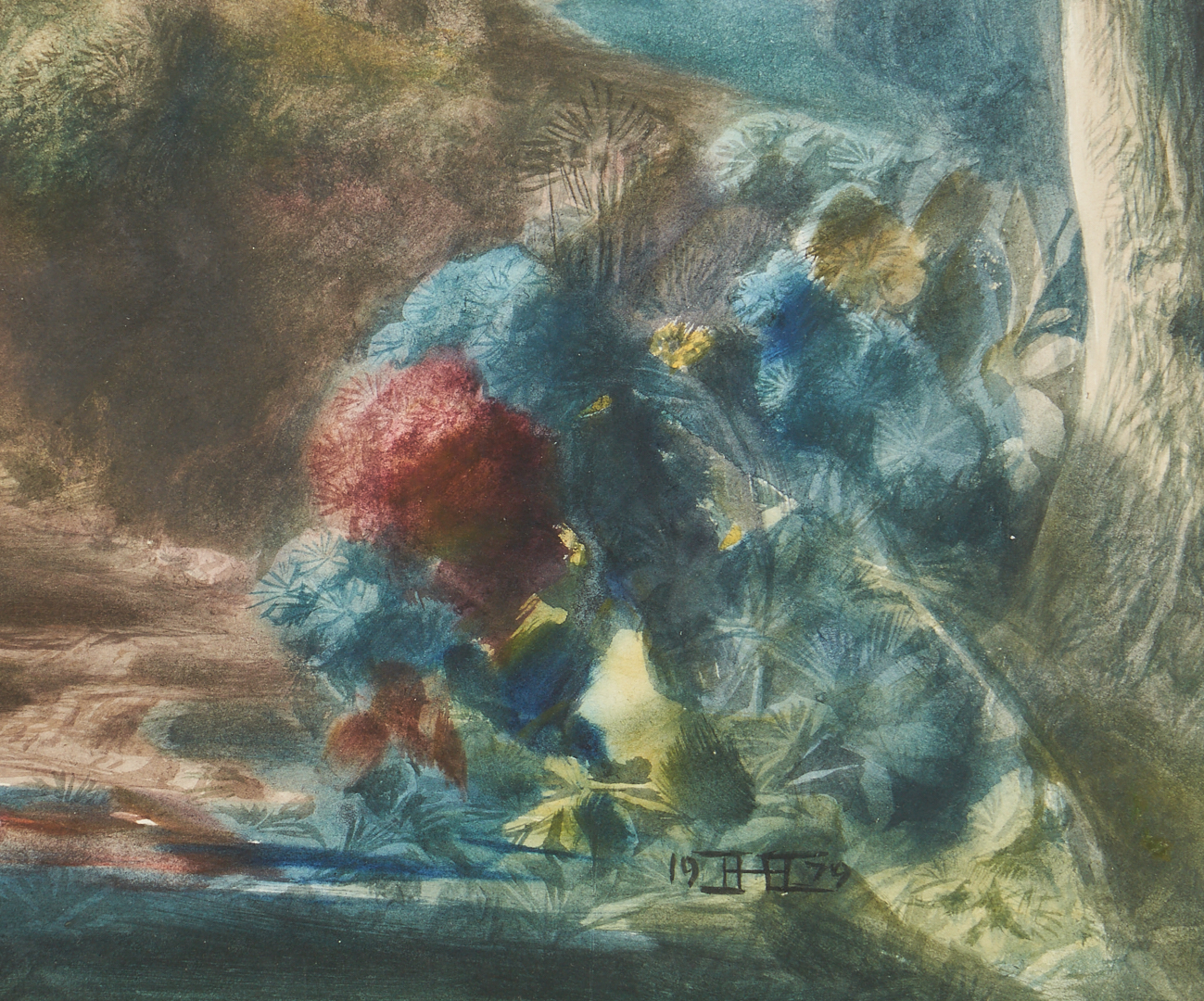 Lot 339: H. Hitchcock Watercolor, St. Anthony's Cove