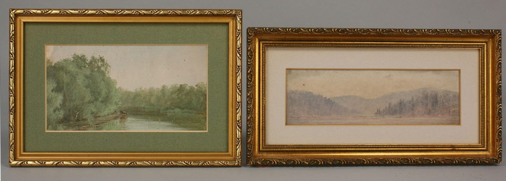26: Two Thomas Campbell landscape paintings