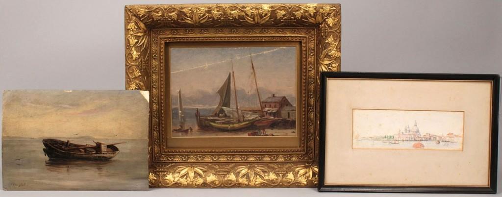 Lot 29: Three Thomas Campbell paintings