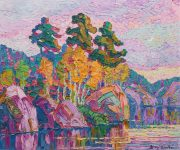 Birger Sandzen O/C Landscape Sold $97,200